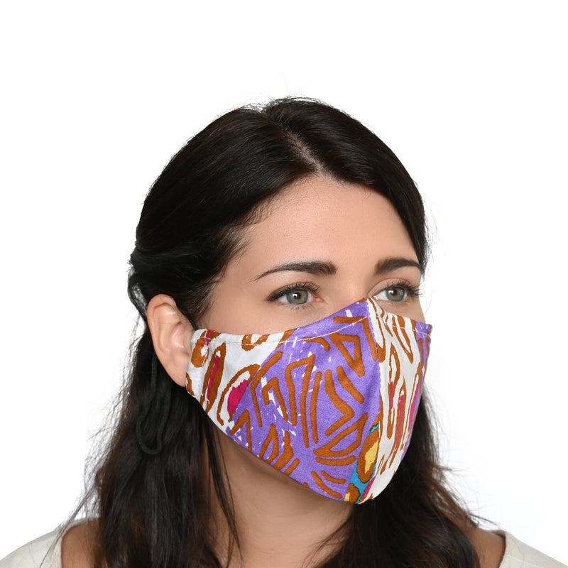 Akwaaba Mask - Fall Patchwork