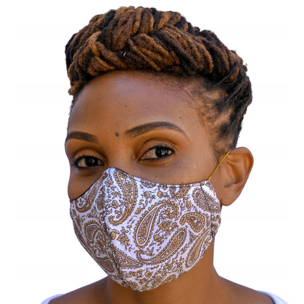 One Love Mask - Mocha Paisley