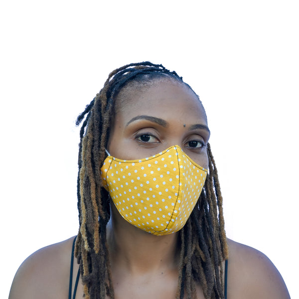 One Love Mask - Yellow Polka Dot