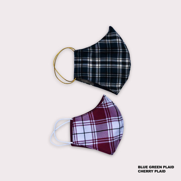 One Love Mask - Cherry Plaid