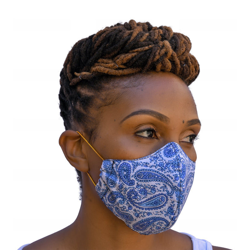 One Love Mask - Ocean Blue Paisley