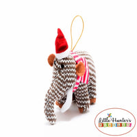 Christmas Dinosaur Decorations Mammoth / Small Stripe Dinosaurs