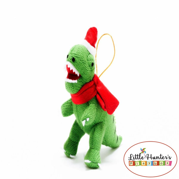 Christmas Dinosaur Decorations T-Rex / Small Green Dinosaurs
