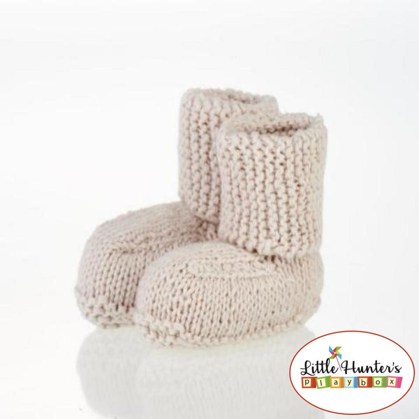 Natural Baby Booties