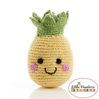 Fair Trade Friendly Fruit Pineapple Rattle Baby Gift Ideas