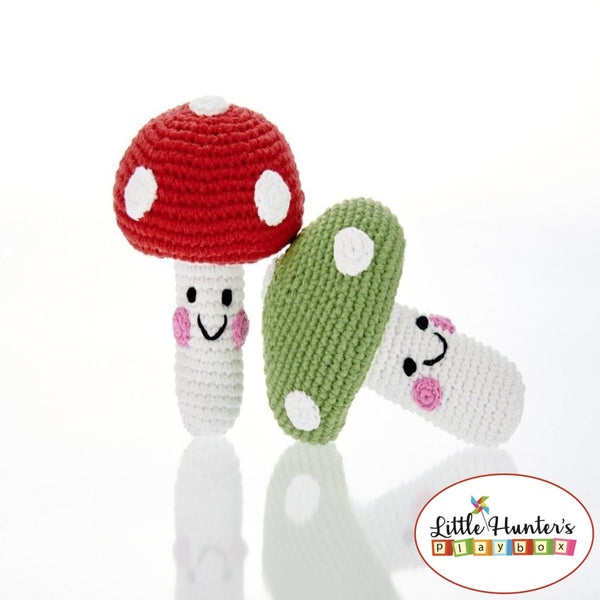 Fair Trade Friendly Toad Stool Rattle Baby Gift Ideas