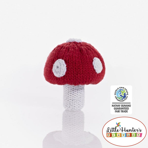 Fair Trade Toadstool Rattle Rattles