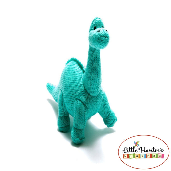 Ice Blue Mini Dippy Rattle Dinosaurs