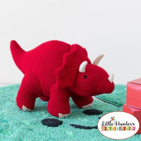 Red Triceratops Dinosaur Rattle Baby Gift Ideas