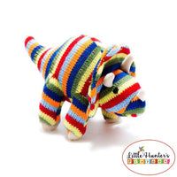 Red Triceratops Dinosaur Rattle Rainbow Baby Gift Ideas