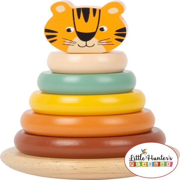 Safari Tiger Stacking Tower Wooden Toys