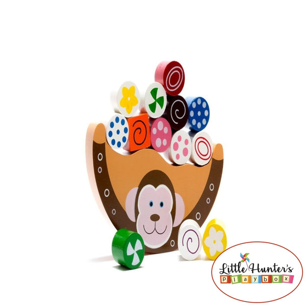 Wooden Fair Trade Balancing Monkey Set Educational Toys