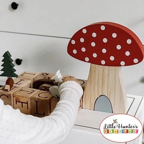 Woodland Friends Mushroom Puzzle Stacking Toy Wooden Toys