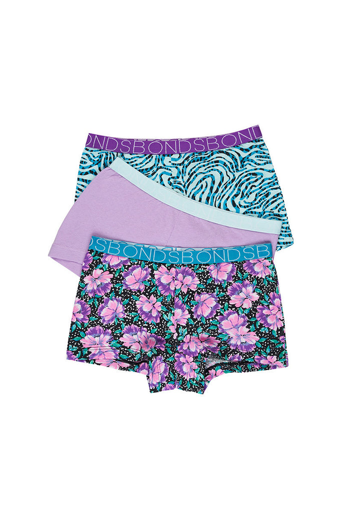 Cosmic Floral Shortie 3 Pack