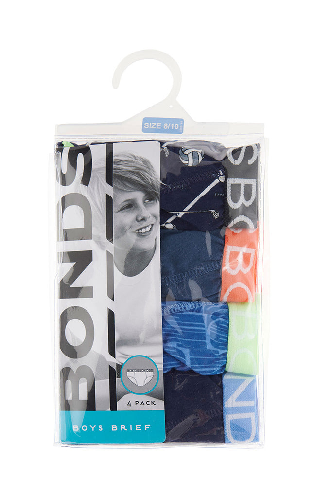 Game On Boys Briefs 4 Pack