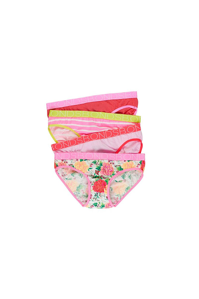 Pretty Posie Girls Briefs 4 Pack