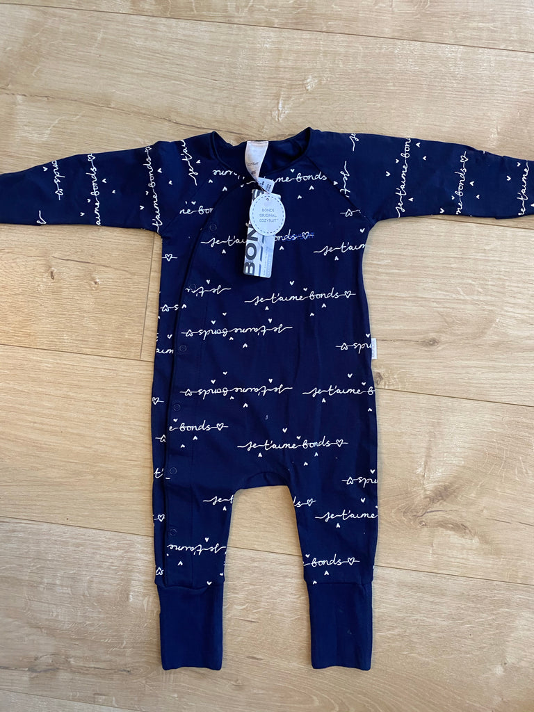 Bonds Navy & White Cozysuit