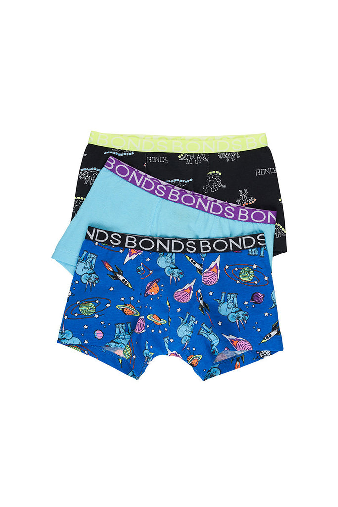 Cosmic Dino Boys 3 Pack Trunks