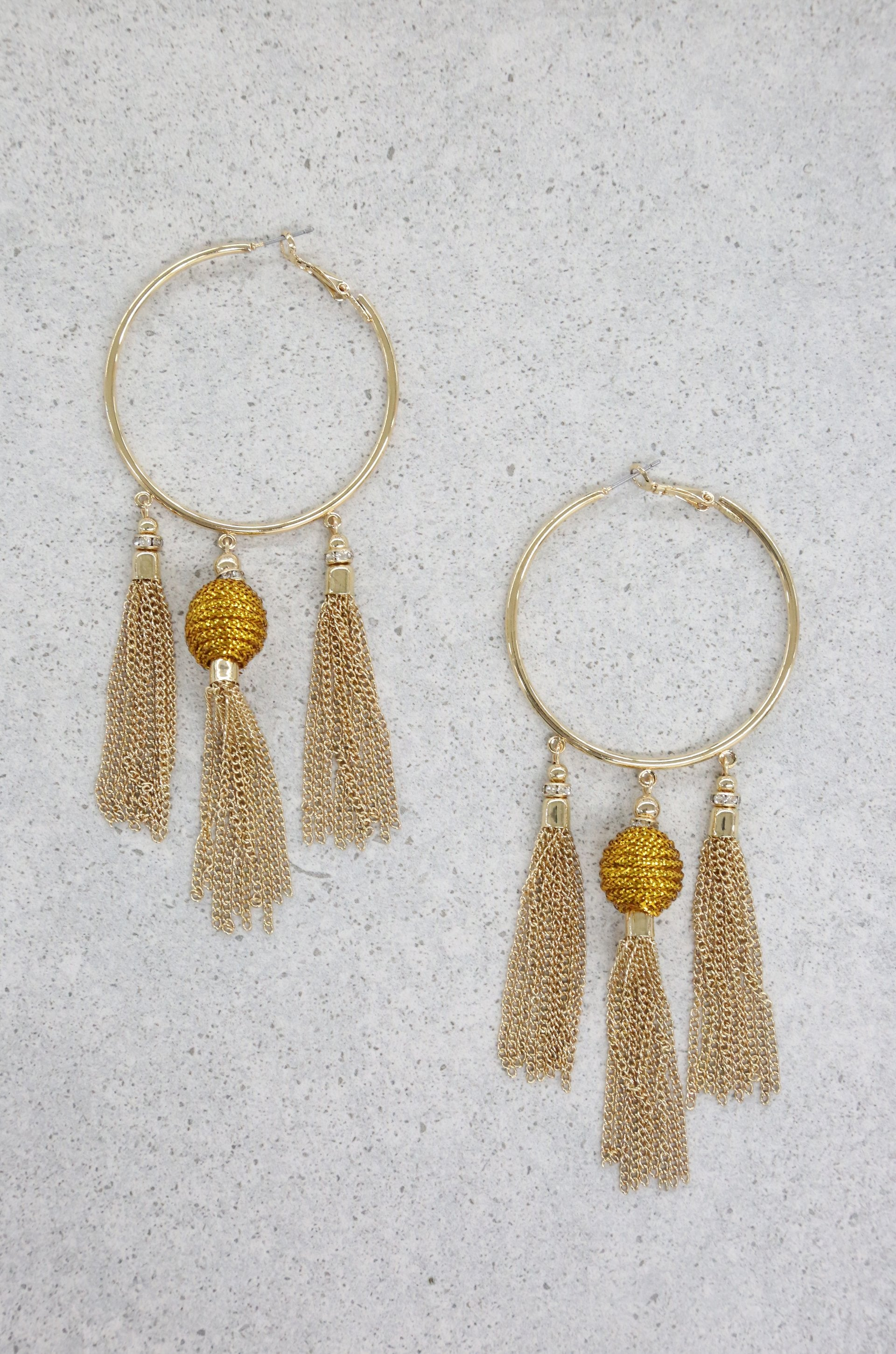Golden Nebula Earrings in Gold