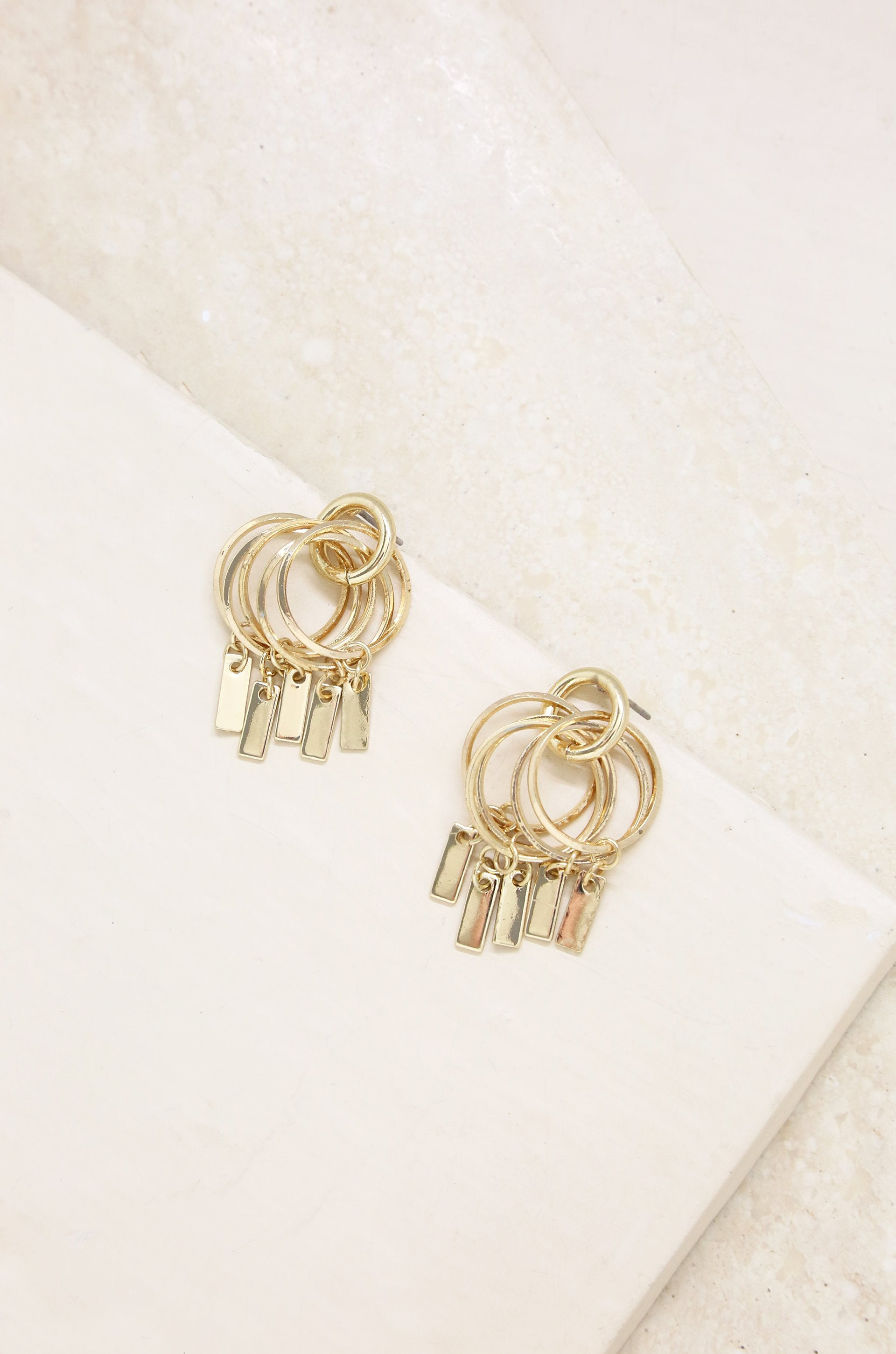 Mini Jingle Bar Charms & 18kt Gold Plated Stud
