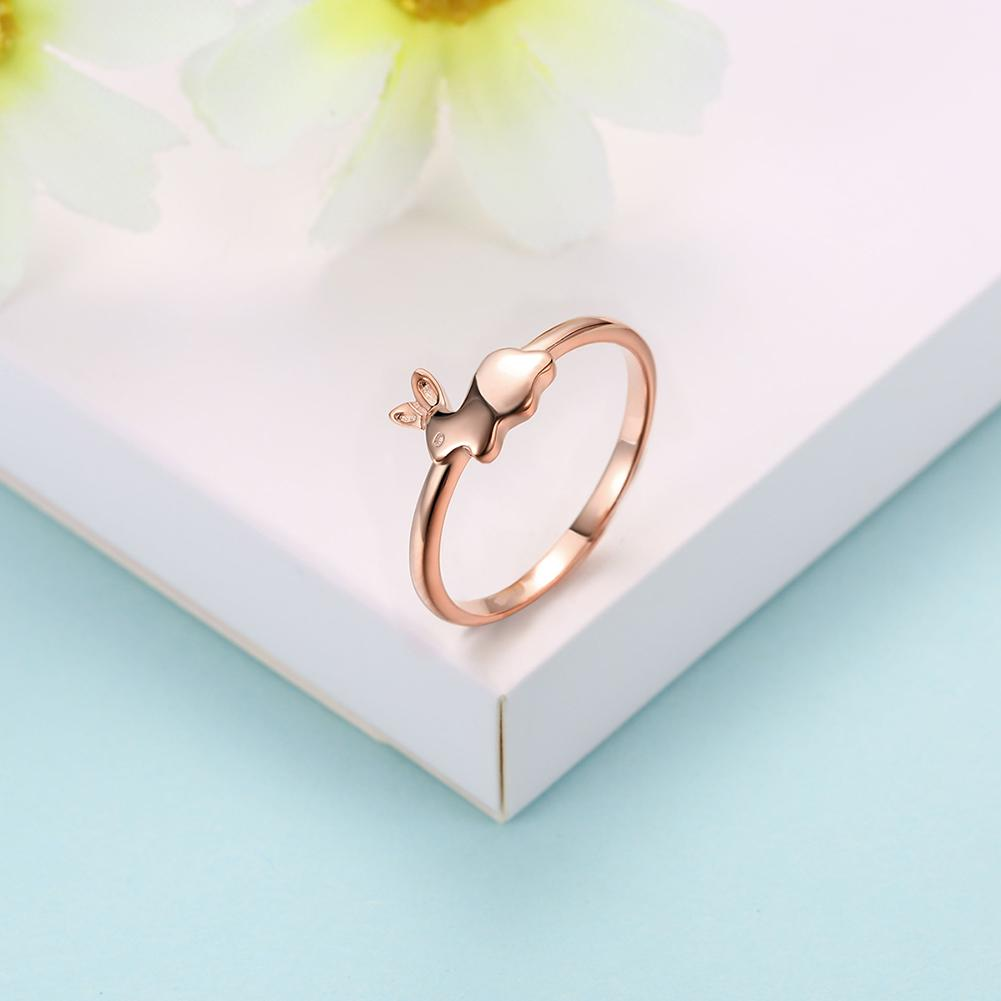 Rose Gold over Sterling Silver Bunny Ring