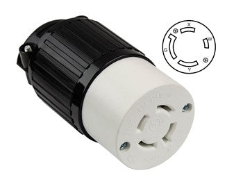 Locking Connector Nema L14-20C, 20A, 125/250V, 3-Pole, 4-Wire, Industrial Grade