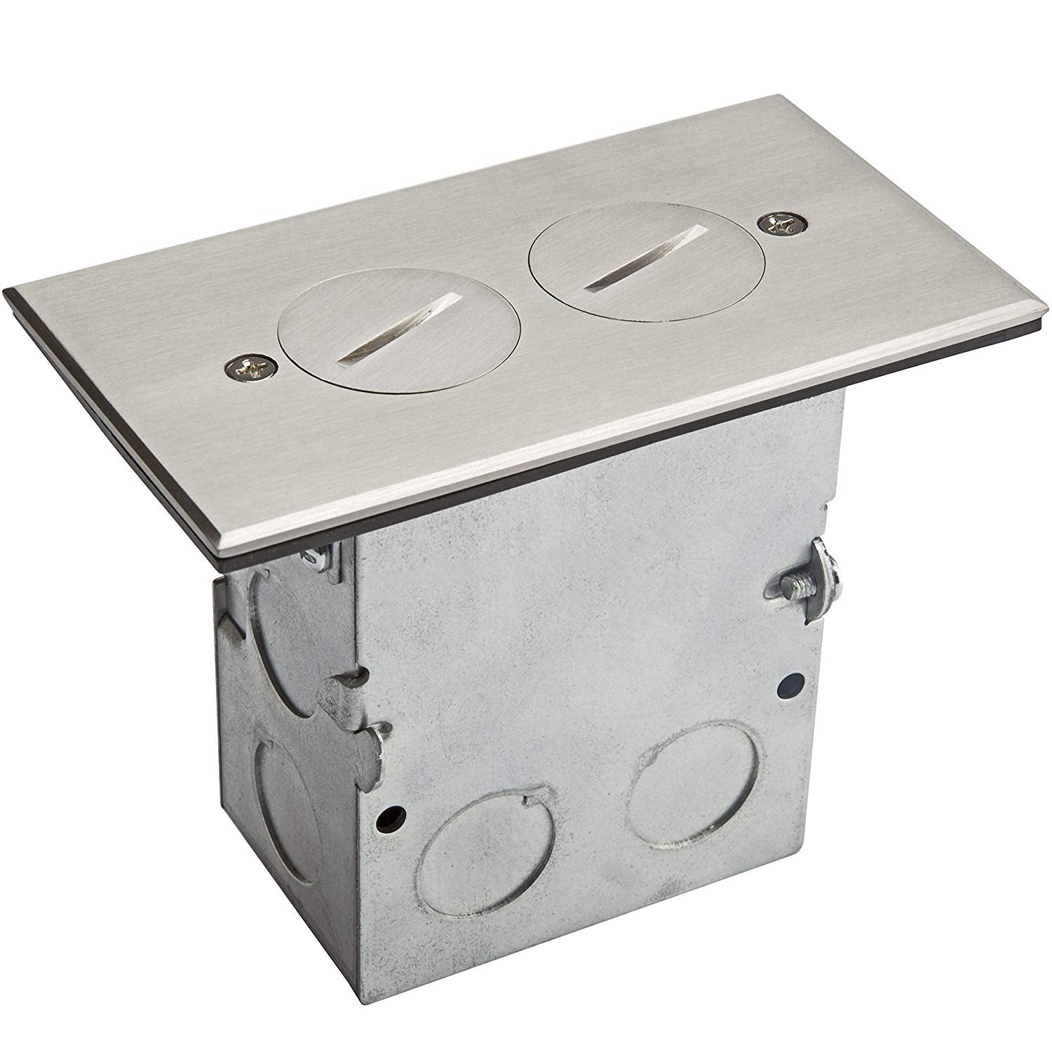 Floor Box 1-Gang Coin Open Receptacle, 1 Gang 20A Tamper Weather Resistant Duplex Receptacle