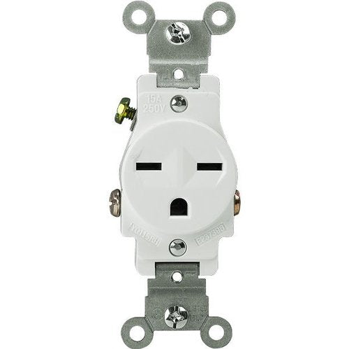 Enerlites Industrial Grade, 15A, 250V Single Receptacle