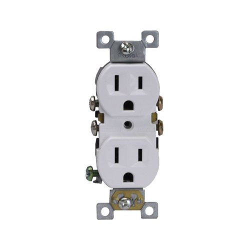 Enerlites Residential Grade, Duplex Receptacle, 15A, 125V, White (61580-W)