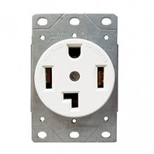 Enerlites Industrial Grade, Flush Mount Receptacle, 30A, 125/250V 3-Pole, 4-Wire Grounding, Nema 14-30R White (66300-W)