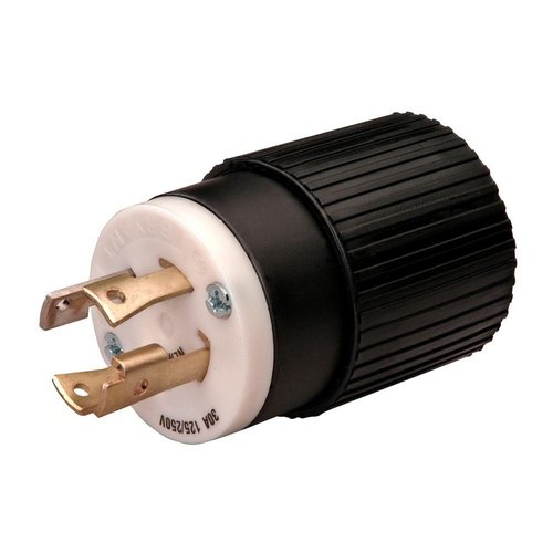 Locking Plug Nema L6-30P, 30A, 250V, 2-Pole, 3-Wire, Industrial Grade