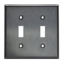 Enerlites Commercial Grade Over-Size 2-Gang Toggle Switch Metal Plate,  Stainless Steel