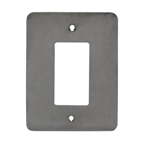 Enerlites Commercial Grade Over-Size 1-Gang Decorator Gfci Metal Plate, Stainless Steel