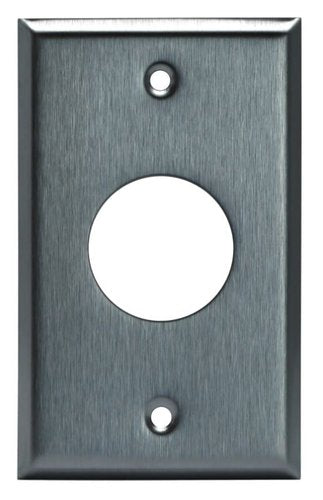 Enerlites Commercial Grade 1-Gang, Single Receptacle Metal Plate, 1.406