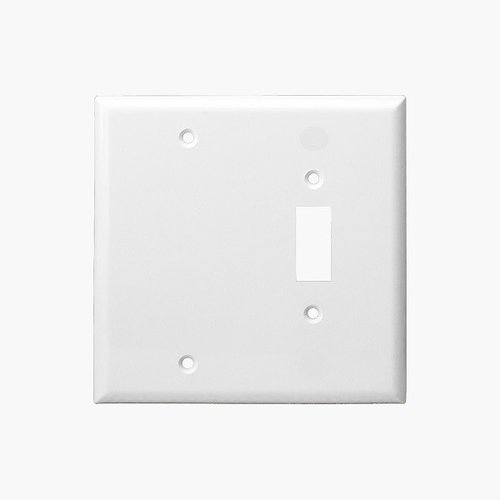 Enerlites Residential Grade Combo Blank/Toggle Plate