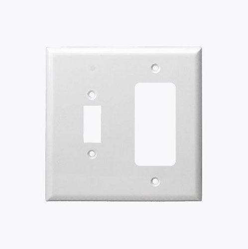 Enerlites Residential Grade Combo Toggle/Decorator Gfci, 2-Gang, Light Almond (881131-LA)