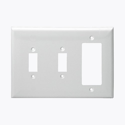 Enerlites Residential Grade, Combo Two Toggle/One Decorator/Gfci, 3-Gang