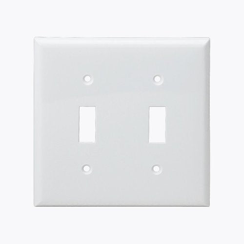 Enerlites Residential Grade, Toggle Switch Plate, 2-Gang