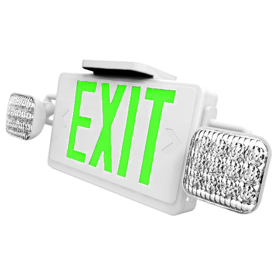 LED Exit/Emergency Combo - Battery Back-up