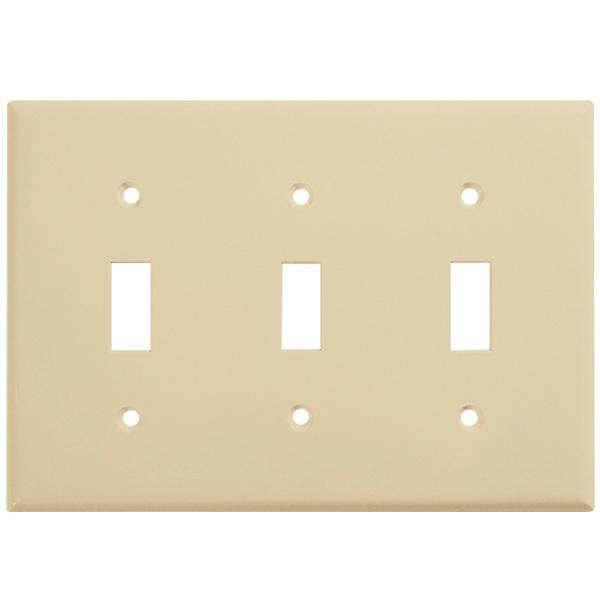 Enerlites Residential Grade, Mid-Size Toggle Switch Plate, 3-Gang