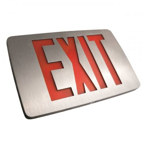 LED Exit Sign Low Profile Thin Die-Cast Aluminum