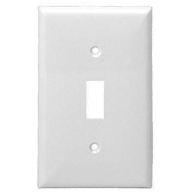Enerlites Residential Grade, Mid-Size Toggle Switch Plate, 1-Gang