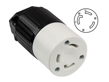 Locking Connector Nema L5-30C, 30A, 125V, 2-Pole, 3-Wire, Industrial Grade