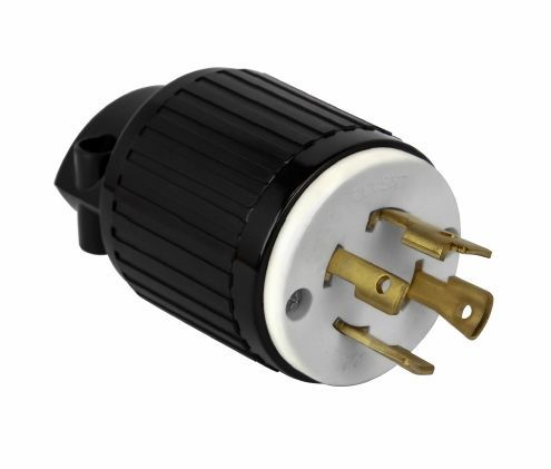 Locking Plug Nema L15-30P, 30Amp 250Vac 3P, 4W, 3Py, Grounding, Industrial Grade