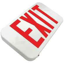 Rounded EXIT Sign - Red Letters - Battery Backup - White Housing