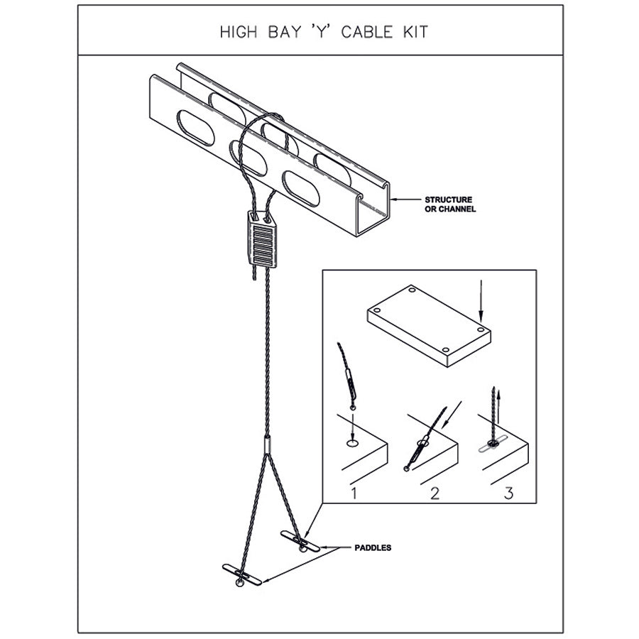High Bay Y Cable Kit