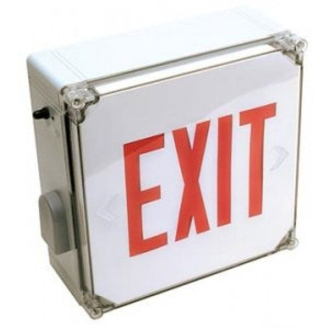 LED Exit Sign Wet location with Red or Green Face
