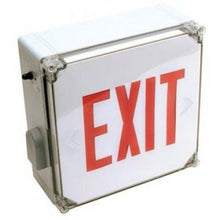 LED Exit Sign Wet location with Red letters