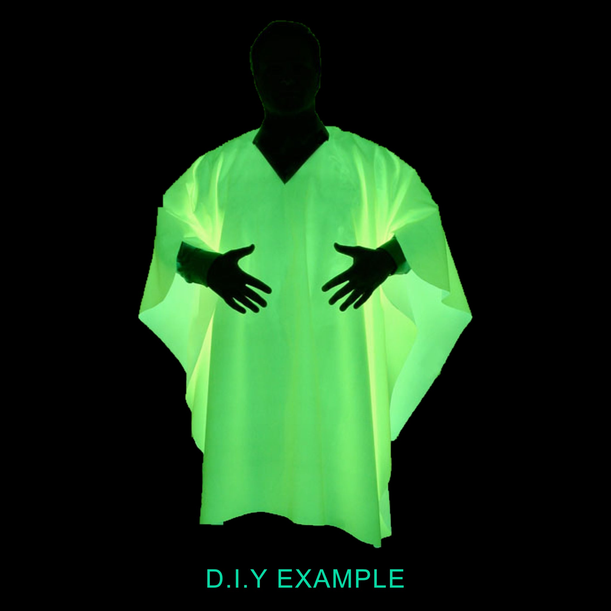 Multipurpose Waterproof Fabric Glow in the Dark Jacket