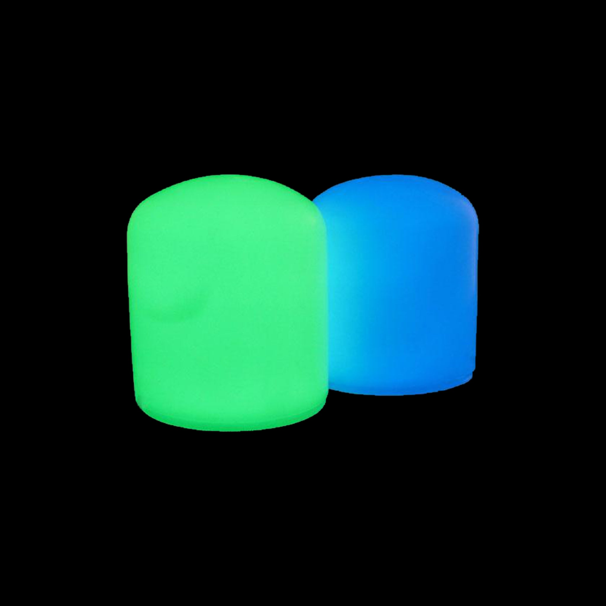 glow in the dark dock post caps trailer hitch caps